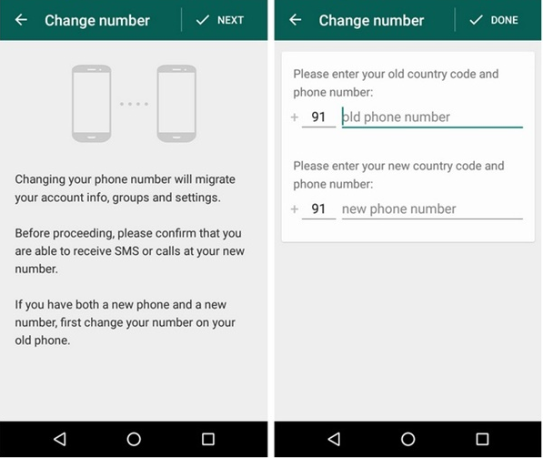 Change Mobile Number of Whatsapp