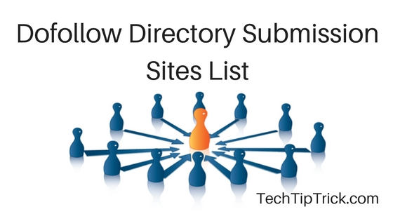 Dofollow Directory Submission Sites List 2016