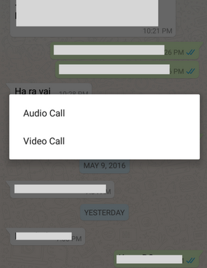Enable Whatsapp Video Calling Fature