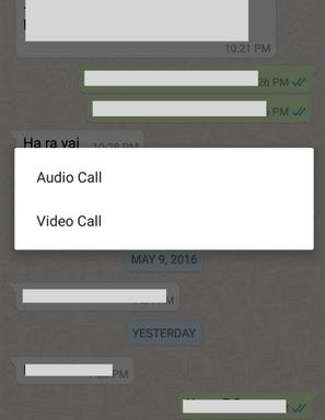 Enable Whatsapp Video Calling Fature