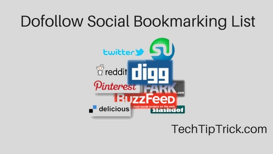 Dofollow Social Bookmarking List 2017