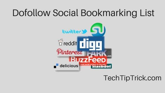 Dofollow Social Bookmarking List 2017