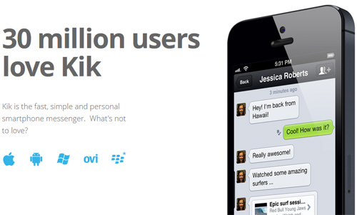 Kik Whatsapp Alternative Messaging Android App