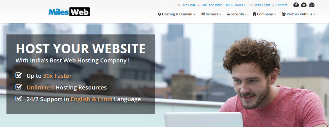 MilesWeb best web hosting service provider india