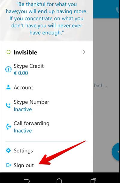 Skype Sigh Out
