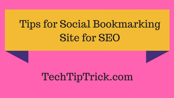 Tips for Using Social Bookmarking Site for SEO
