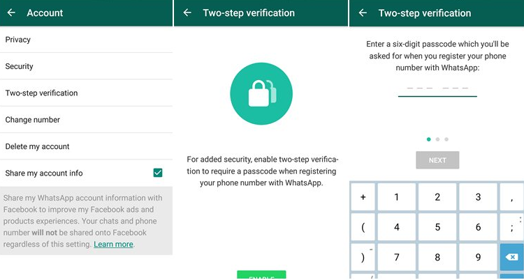 How to Enable Two Step Whatsapp Verification