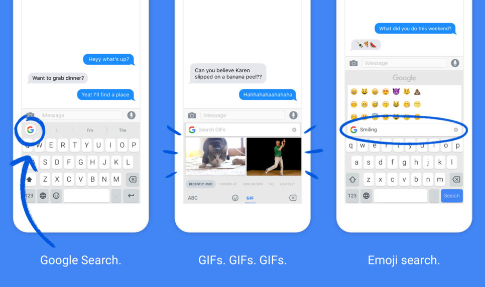 Google GBoard Application for Android Device