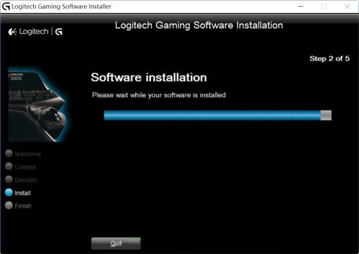 Logitech gaming software not installing windows 10