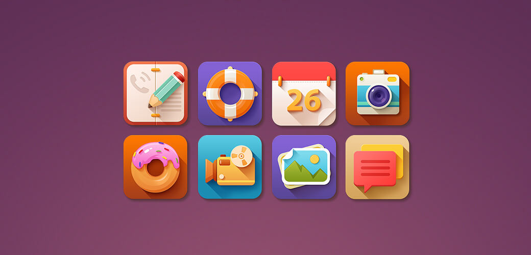 Mobile App Icon Design 2017