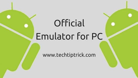 Official Emulator for PC