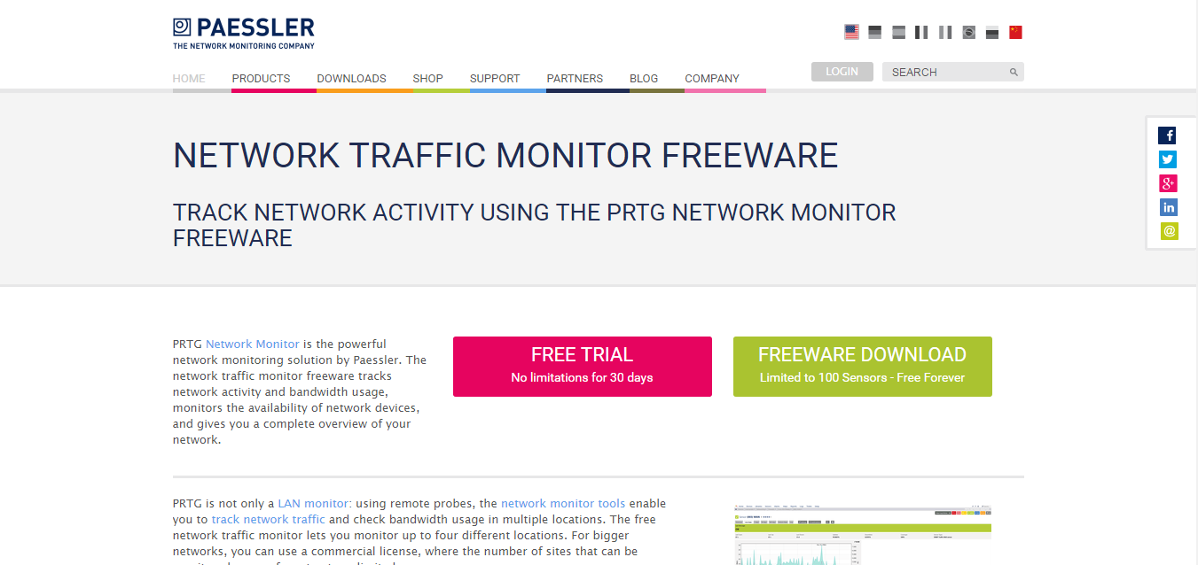 PRTG Network Monitor Freeware for Windows 10/7/8