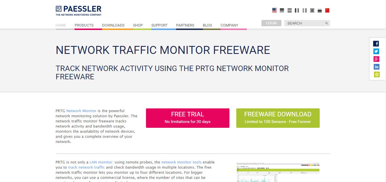 PRTG Network Monitor Freeware for Windows 10/7/8