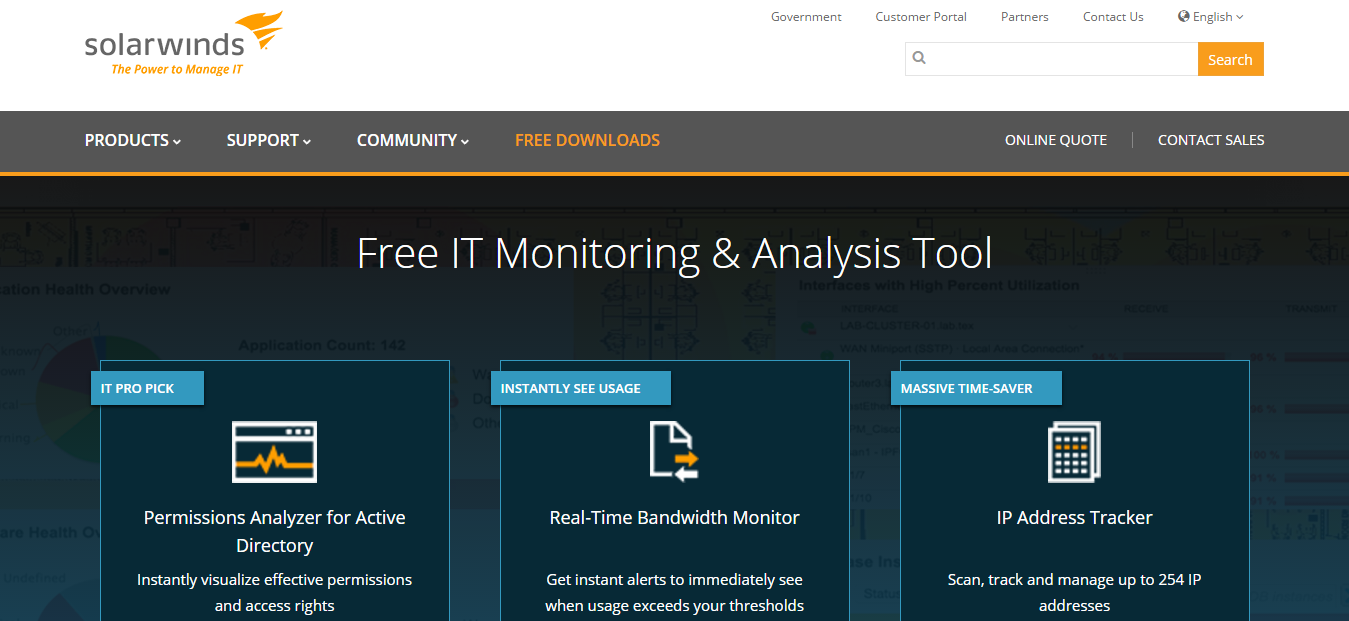 Solarwinds Network Monitoring Tool for Windows 10/7/8