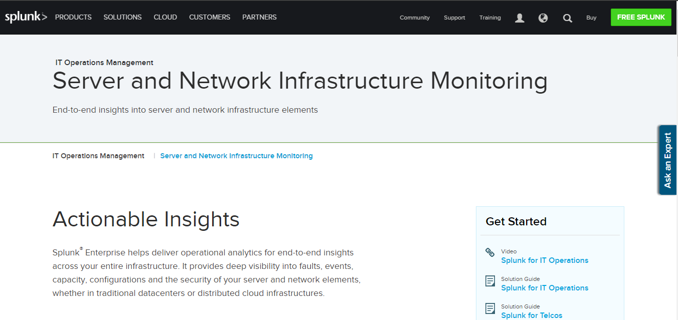 Splunk Network Monitoring Tool for Windows 10/7/8