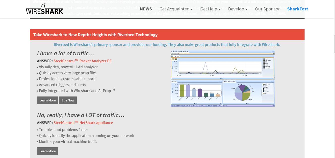 Wireshark Network Monitoring Tool for Windows 10/7/8