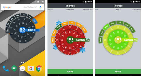 Clear Clock Widget for Android
