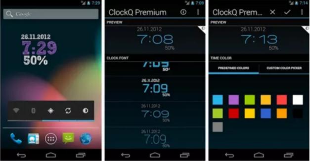 ClockQ Clock Widget for Android