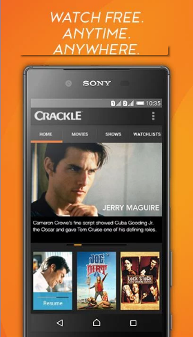 Crackle best free movie app for Android