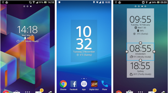 Digital Clock Widget Xperia for Android 2017