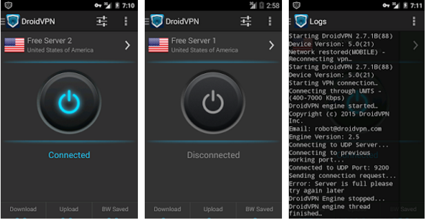 DroidVPN for Android 2017
