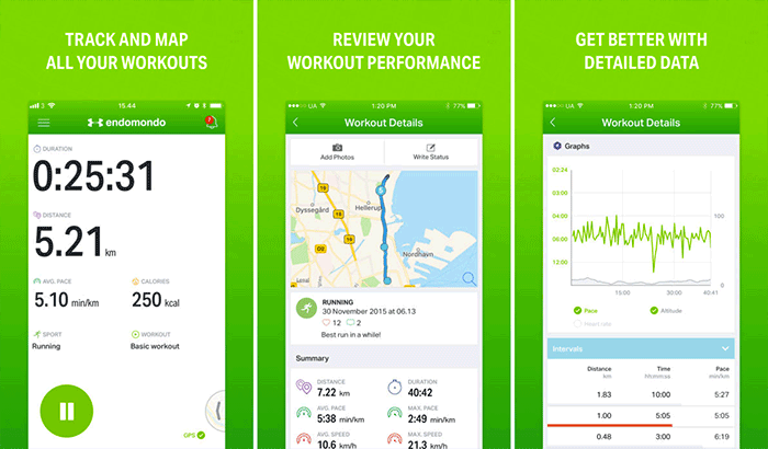 Endomondo iPhone running app