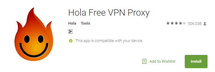 Hola Free VPN Apps for Android