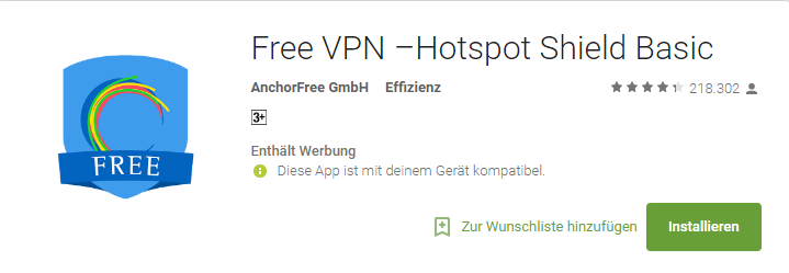 Hotspot Shield Free VPN Apps for Android