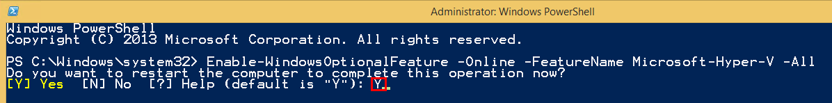 Hyper V Windows PowerShell Image