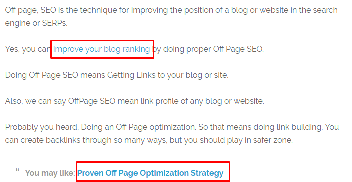 Inter Linking On Page SEO Technique 2017