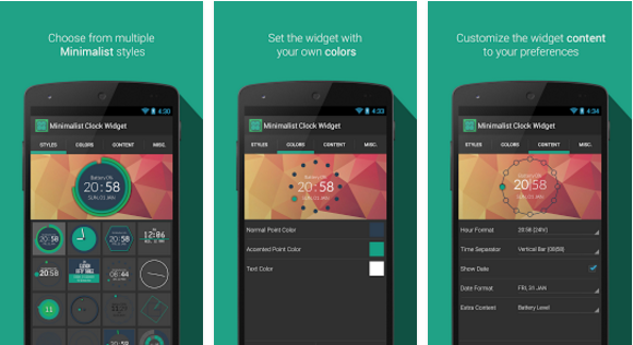 Minimalist Clock Widget for Android