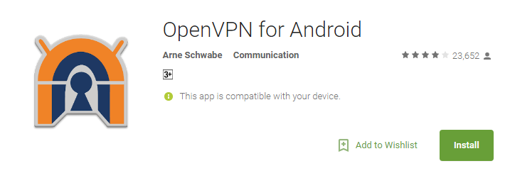 OpenVPN Apps for Android 2017