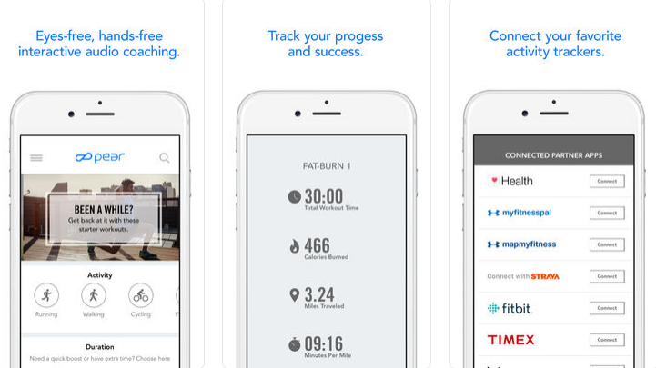 PEAR Personal Coach running app for iphone and apple watch