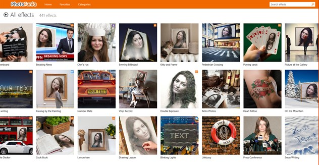 PhotoFunia Photo Editing Apps for Windows 10