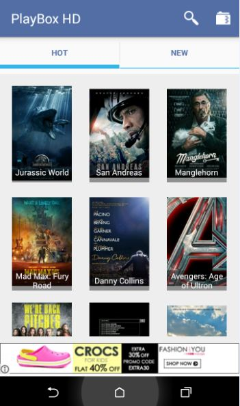 PlayBox HD Free Movie App for Android
