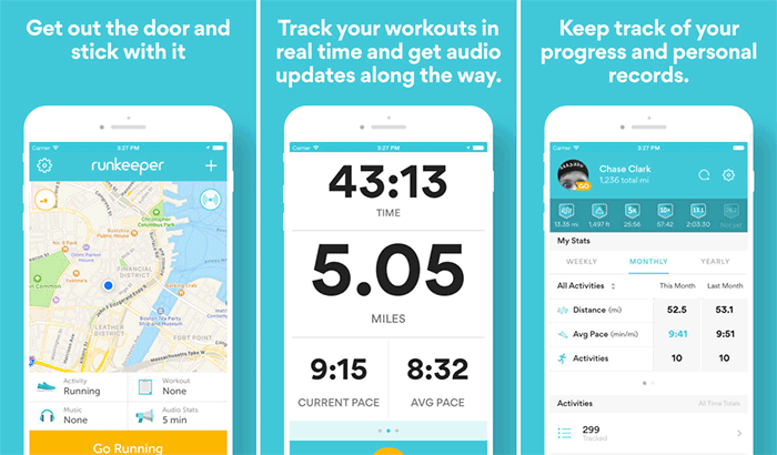 Runkeeper iPhone running app