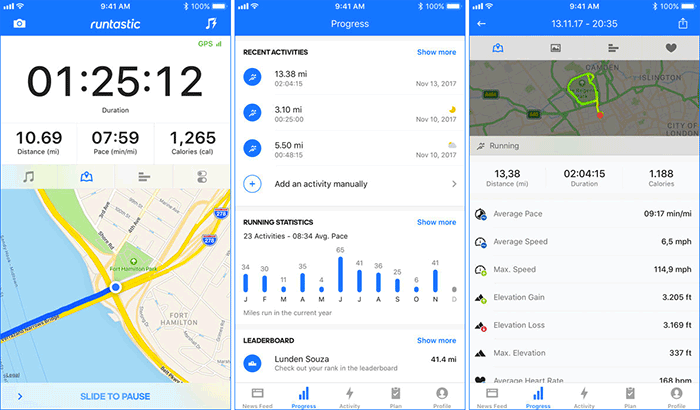 Runtastic iPhone running application