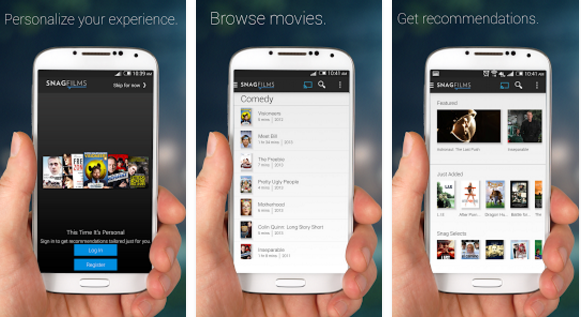 SnagFilms free movie app for Android