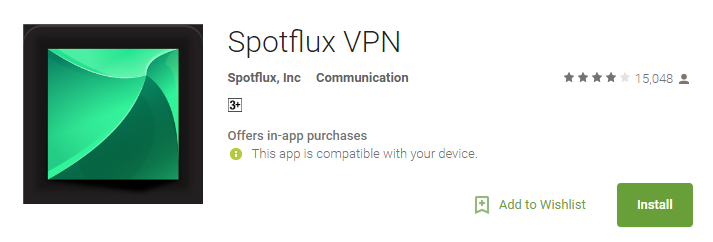 Spotflux VPN Apps for Android