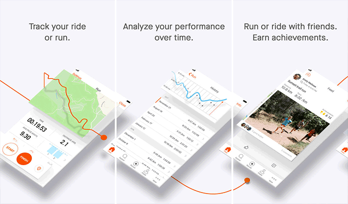 Strava Running and Cycling iPhone running app