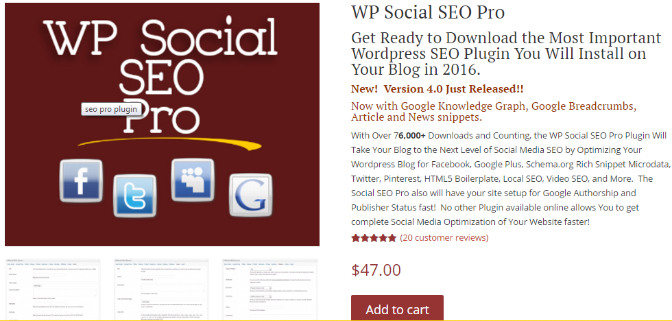 WP Social SEO Pro WordPress Plugin