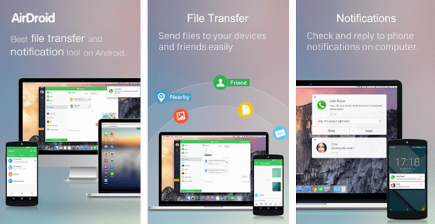 AirDroid Remote access File to Remotely Control Android Phone From Another Phone