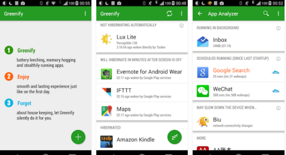 Greenify Rooted Apps for Android
