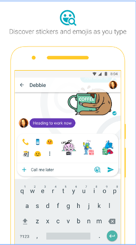 Stickers on Google Messenger Allo
