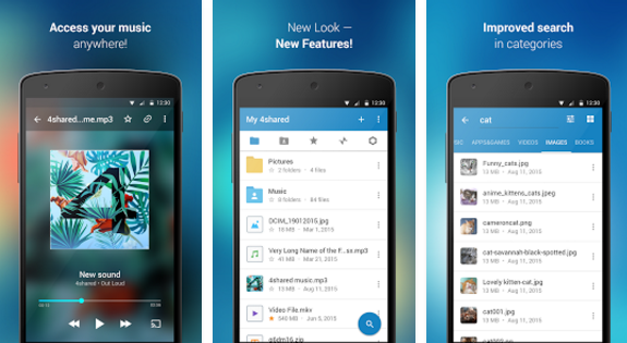4shared free music download app for android