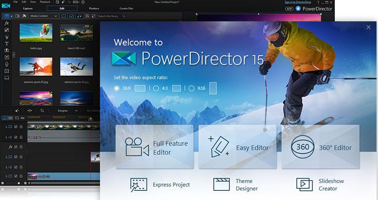CyberLink PowerDirector Video Editing Software 2017