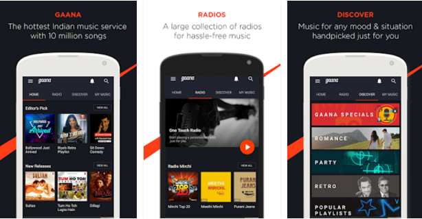 Gaana best mp3 music downloader app for android