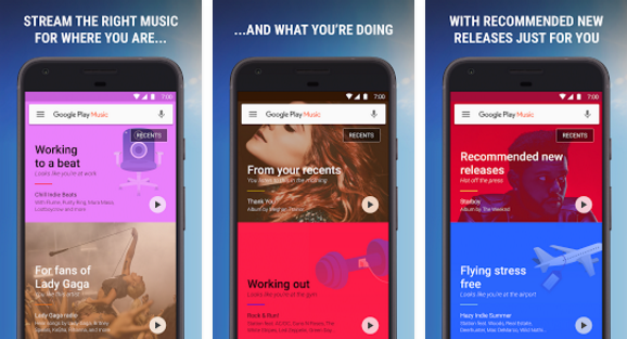 Google Play Music free music downloader app for android