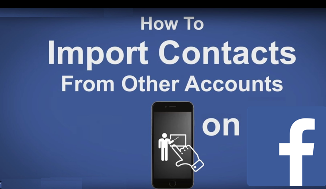 How to upload contacts to Facebook from your mobile phone or other accounts