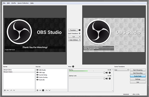 Open Broadcast Software for Game Recording
